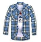 mens fashion plaid shirt