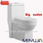 Hot sale chazhou sanitary ware washdown cheap floor mounted washdown one piece toilet