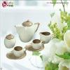 colorful stoneware 15 pcs tea set