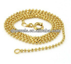 fashion design gold prayer beads necklace gold necklace for man
