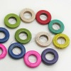 Fashion multi-color howlite Donut Circle beads for jewelry bracelets