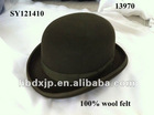 small wholesale bowler hats for men with 100% wool felt hats 2013