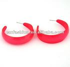Neon C shaped acrylic hoop earring