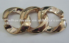 Decorative metal chain for garments or shoes