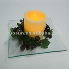 glass and fruit ring and led candle be a set led candle glifts for sale
