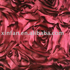satin rose embroidery fabric