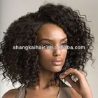 hot sale for African balck person curly natural color remy hair weft