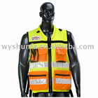 high visibility reflective ANSI Mesh road traffic children warning safety vest uniform workwear