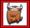 fridge magnet with cow shape