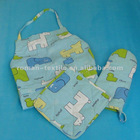 Roman Apron&Oven Mitt&Pot Holder KitchenTextile Sets Apron