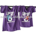 Lover's purple fashion printed short sleeve O-neck cotton t-shirt