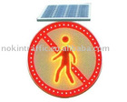 NOKIN Round Aluminium Ultra Bright LED Solar Roadway Sign