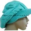 knit beret hat pattern for women