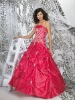 2010 hot sales red strapless prom dress with high quality