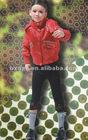 1 Hooded girl Polyes-padded jacket-high quality girls fashion clothing/fashion design kids winter jackets/2012 girls winter jack