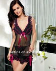 Fashion Black w hot pink Sexy Babydoll Lingerie,Sexy Dress,sexy lingerie