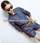 zc07055 Street Style Long Sleeve Loose Ladies Fashion Denim Jumpsuits