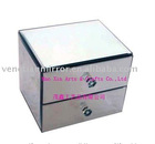 Unique handwork fashion with 2-drawers mirror jewelry box, jewelry case