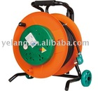 with foldable wheeled stand cable reel 360