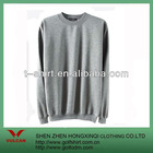 High quality grey knit fabric sweater for custom