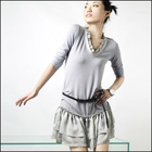 2012 women's frill neck dress