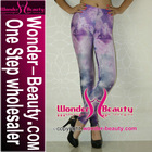 Purple cloud galaxy/space legging
