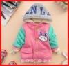 2012 Top Sale Lovely Rabbit Sweet Girl Kids Coats Cheap