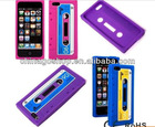 Soft Silicone Skin Retro Cassette Tape Case for Apple iPhone 5 5G Cover