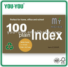 3x5 inch white index card with recycled paper