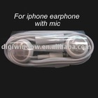 For iPhone Earphone, for iPhone 4 4G 3GS Headphone with Mic (DW-I-345)