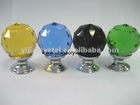 30mm Clear Cut crystal glass cabinet knob