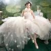 D23 white lace bridal wedding dress
