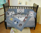 100%cotton gingham fabric infant bedding for boy