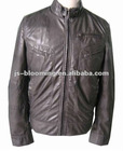 leather jacket men with tab on front collar
