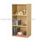 3 tier bookcase beech wide
