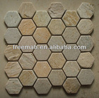 natural slate honeycomb mosaic for floor & wall decoration