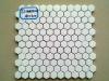 stone material hexagonal type ceramic mosaic