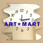 Mirrored Wavey Clock Decorative Mirror Wall Clocks AM088