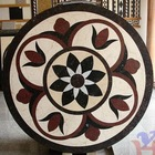 Round natural stone medallion mosaic