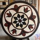 Round natural stone medallion mosaic