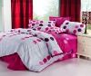 red style 100% cotton bedding set