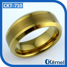 Brushed ring gold tungsten ring mens wedding ring series