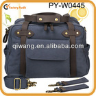 new design large canvas diaper bag for travel with leather trims