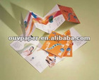 advertising brochure foldable catalogue with gold stamping logo