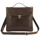 7073J Cowboy 100% Vintage Leather I-pad Tablet Read Accessorie Holder Messenger Bag