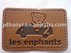 garment leather label