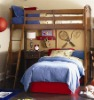 Heavy Duty Wooden loft bunk bed with ladder