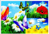 high definition plastic flower placemat for kitchen mate