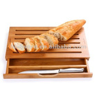 Bamboo Bread cutting board with a hidden knife,crumb catcher