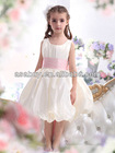 Hot Sale A Line Tank Top Tea Length Taffeta Ivory Flower Girl Dress